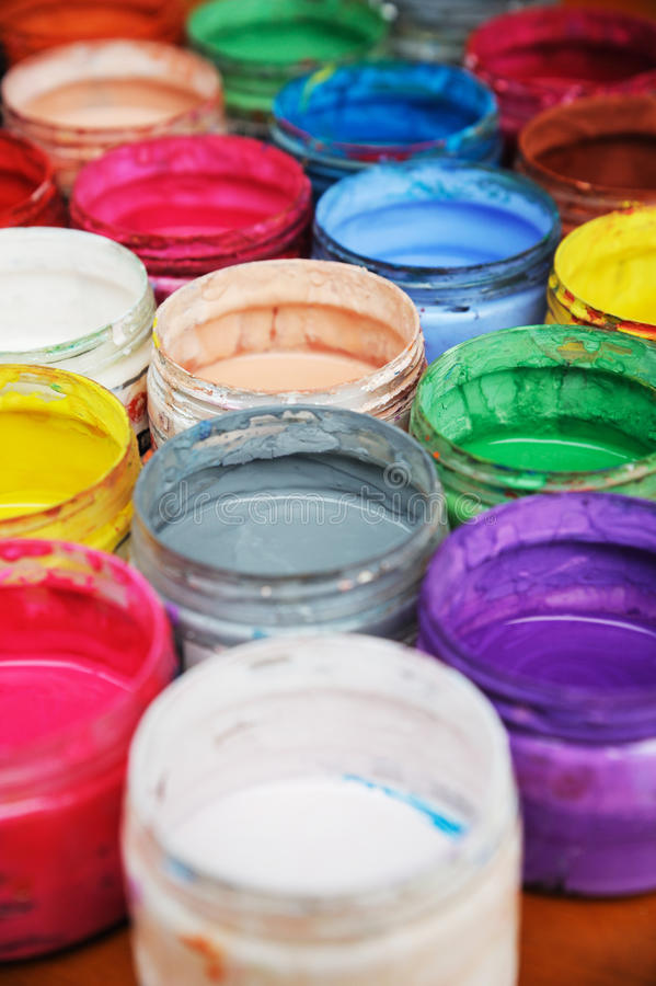 Colorful pigment. On the table stock image