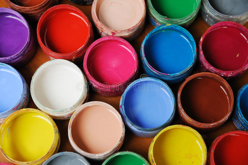 Colorful pigment. On the table royalty free stock photos