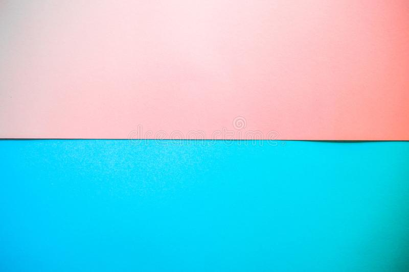 Colorful of pink and blue paper background royalty free stock photos