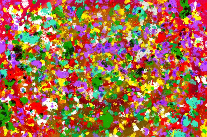 Colorful pink,purple ,green and red abstract digital paint ar royalty free illustration