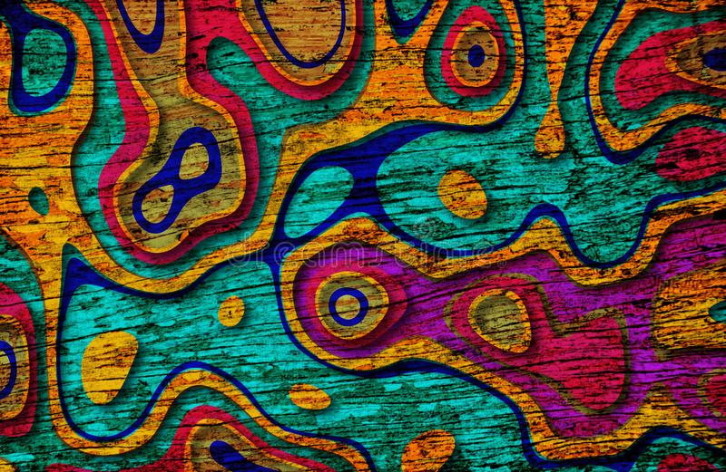 Colorful pink,purple,yellow ,blue and green texture background royalty free illustration