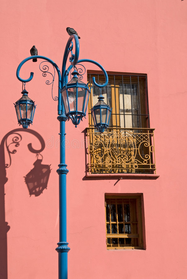 Colorful Pink Wall in La Boca. Colorful Pink Wall in Caminito - La Boca, Buenos Aires, Argentina royalty free stock photos