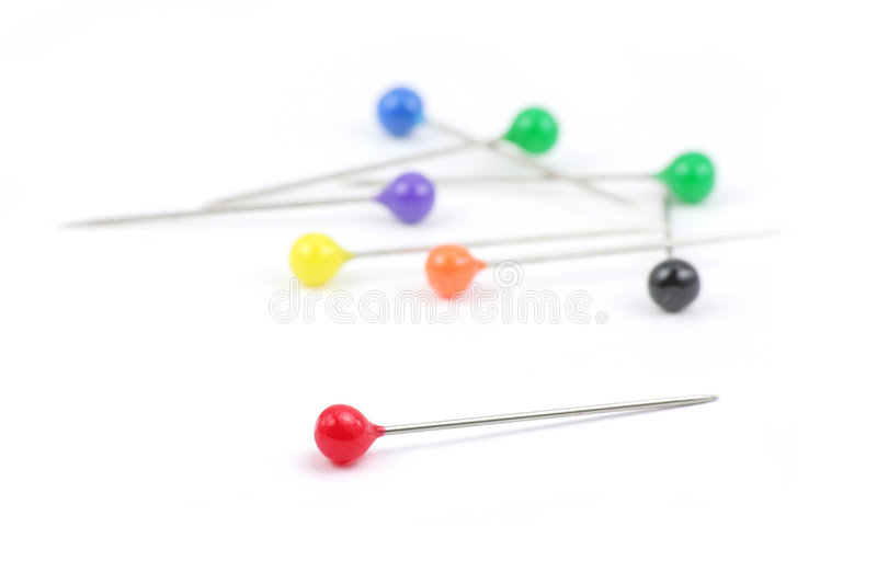 Colorful Pins Stock Photos