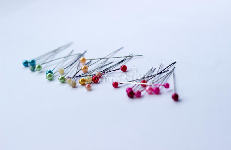 Colorful of pins stock photos