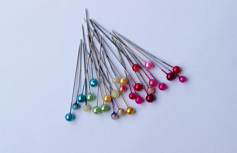 Colorful of pins stock photography