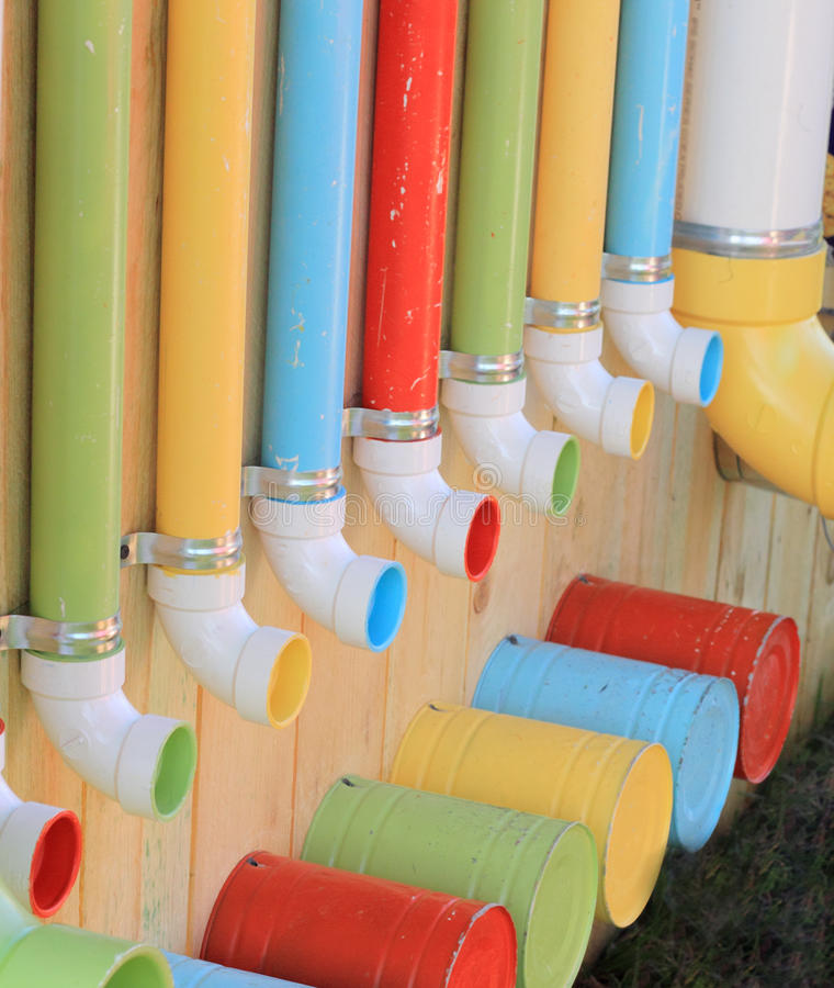 Download Colorful Pipes and Buckets stock photo. Image of color - 29668390