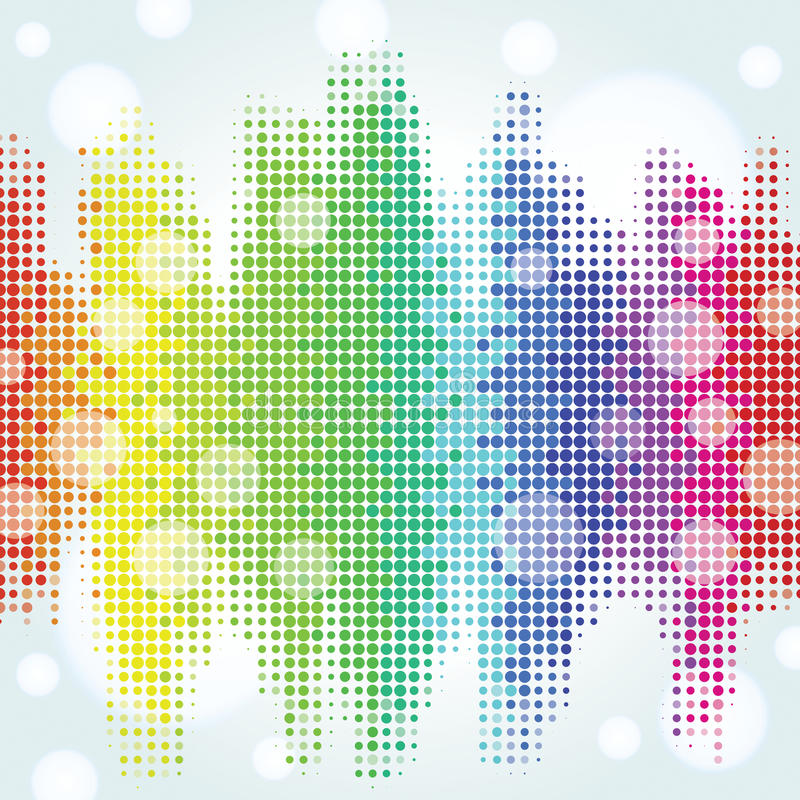 Colorful Pixel Background Stock Vector