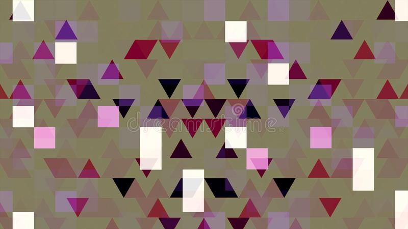 Colorful pixelated animation with blinking triangles and squares, seamless loop. Animation. Shimmering geometrical vector illustration