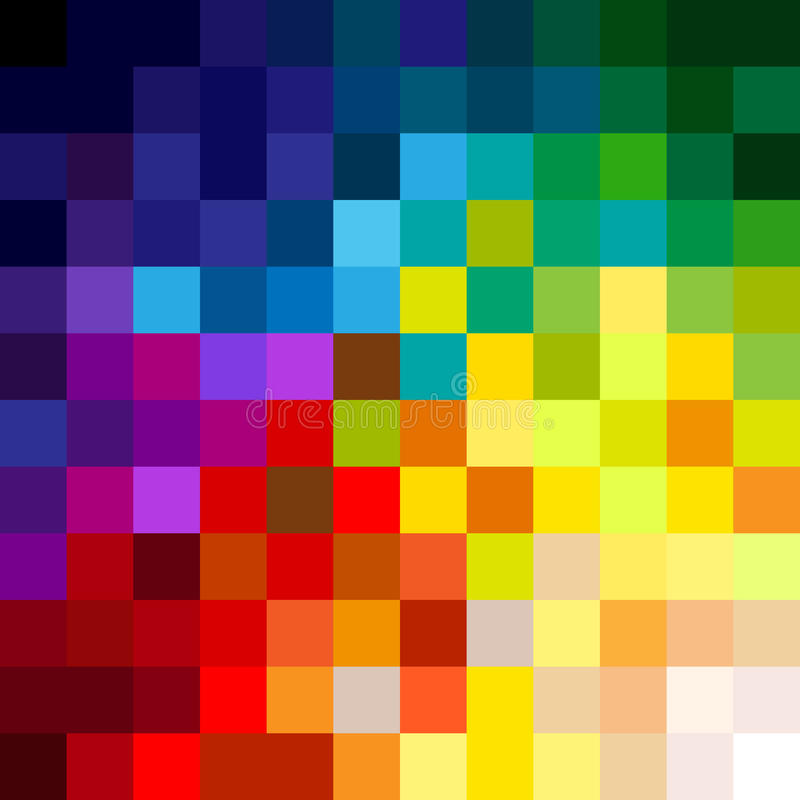 Download Colorful pixels stock illustration. Illustration of abstract - 27301805