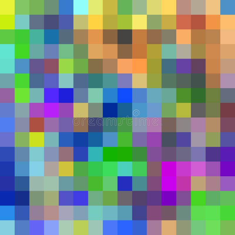Colorful pixels background. royalty free illustration