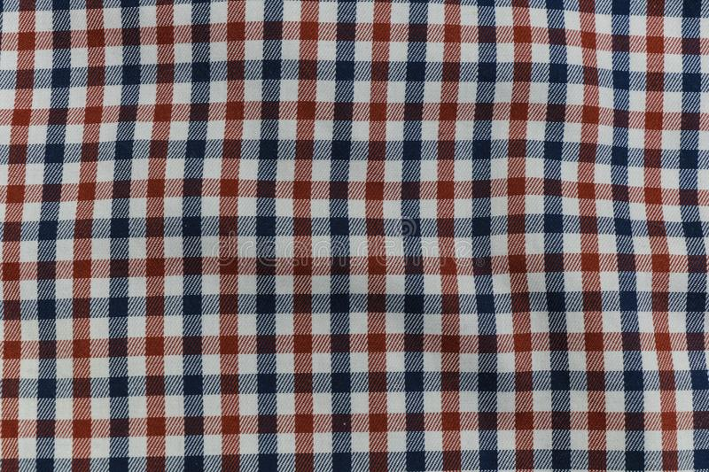 Colorful Plaid Pattern on Fabric.  stock photos