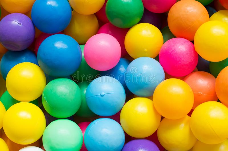Colorful plastic balls on children`s playground. Ball royalty free stock photo