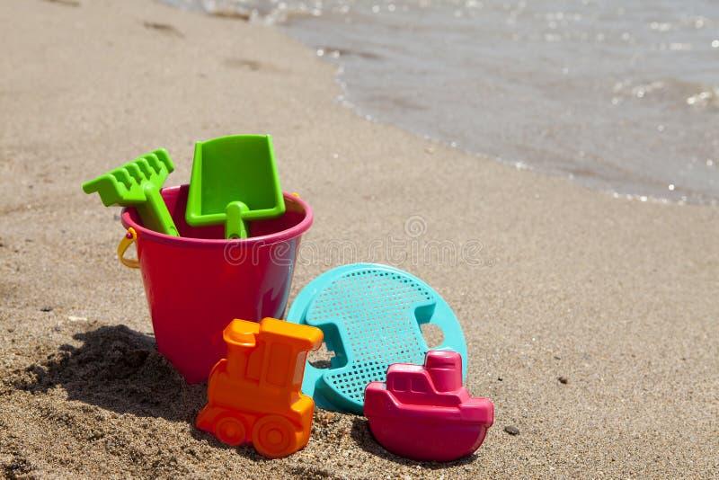 Colorful plastic beach toys