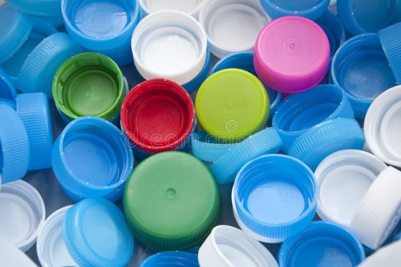 Colorful plastic bottle cap stock images