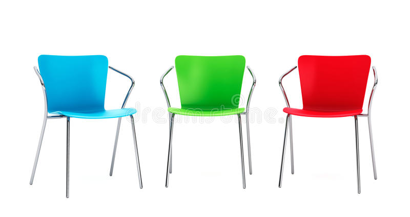 Download Colorful Plastic Chairs Stock Illustration. Illustration Of Back    54785248