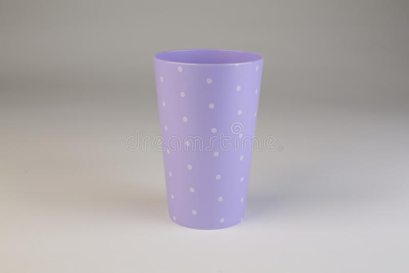 Colorful plastic cup royalty free stock photo