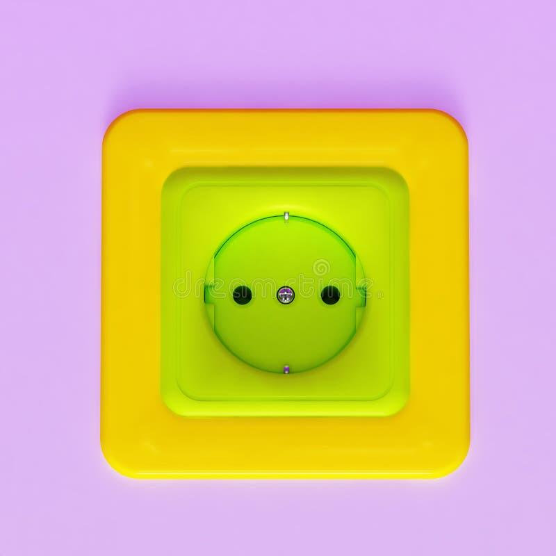 Colorful Plastic Socket Royalty Free Stock Image