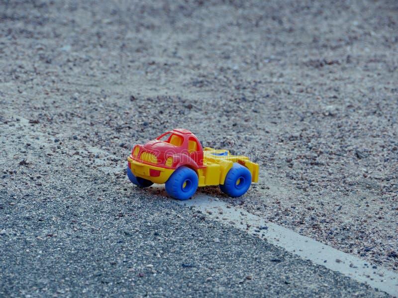 Plastic toy truck stock photo