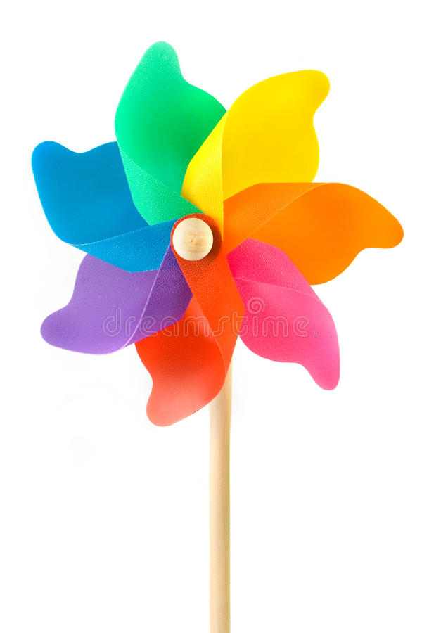 Free Colorful Plastic Toy Windmill Stock Photo - 24555190