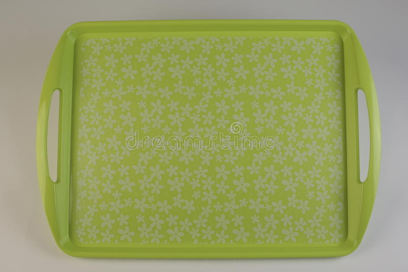 Colorful plastic tray royalty free stock photo
