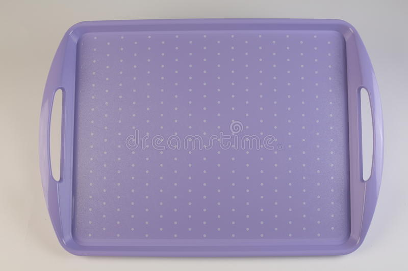 Colorful plastic tray royalty free stock photos