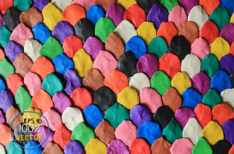 Colorful plasticine background. Plasticine modeling colorful plasticine background. Vector illustration vector illustration