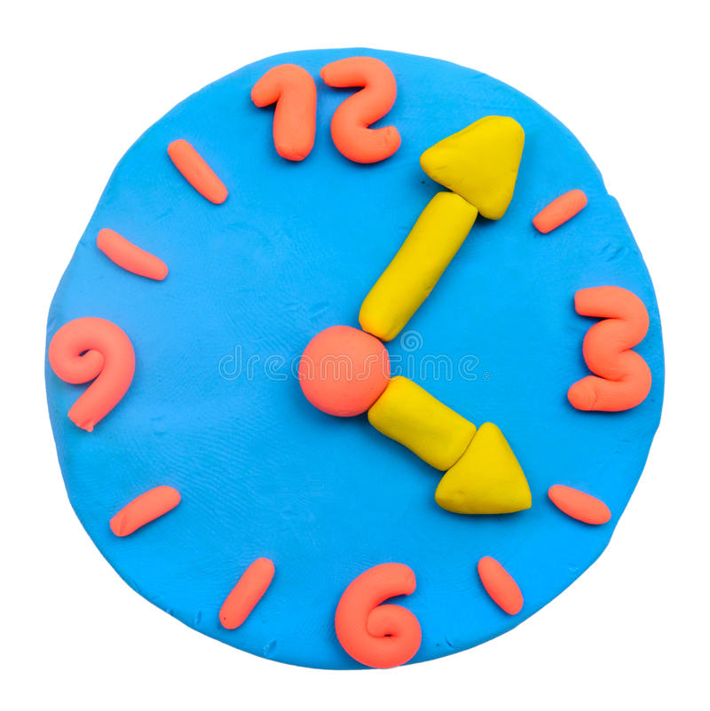 Free Colorful Plasticine Clay Clock Royalty Free Stock Photos - 42916608