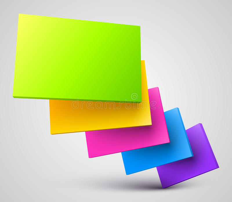 Colorful plates 3D royalty free illustration