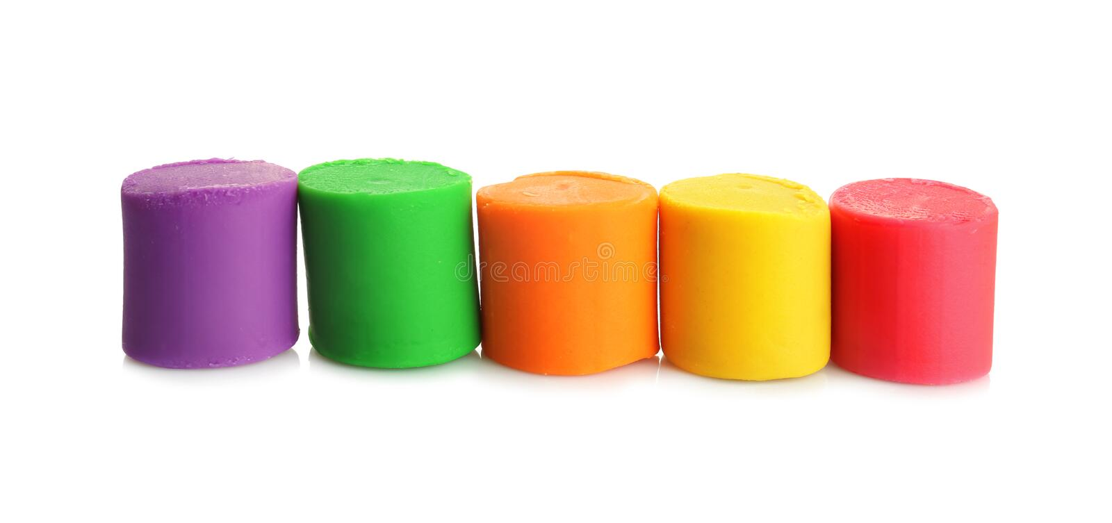 Colorful play dough on background. Colorful play dough on white background stock image