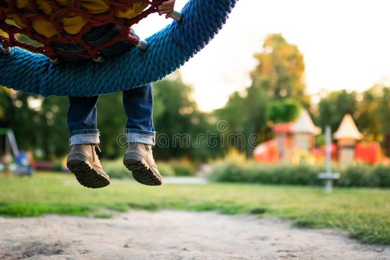 Colorful playground in the park blurred royalty free stock photo