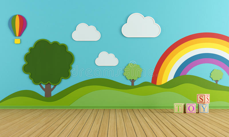 Colorful playroom royalty free illustration