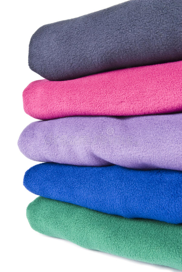 Download Colorful Polar Fleece stock photo. Image of stack, isolated - 17214840