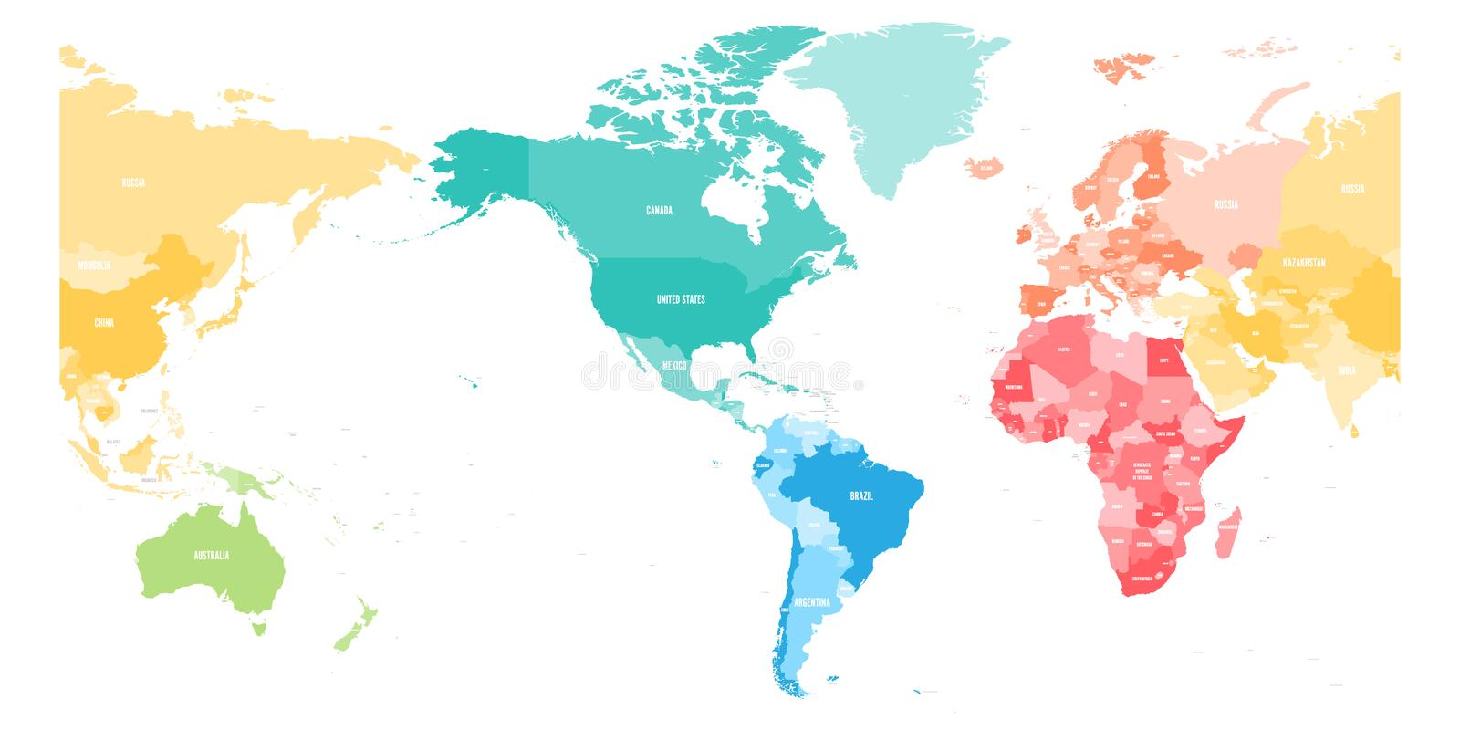 Colorful political map of world divided into six continents and download colorful political map of world divided into six continents and focused on americas blank gumiabroncs