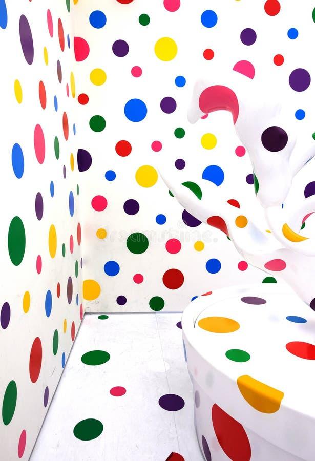 Free Colorful Polka Dots Installation Art By Japanese Artist ,Yayoi Kusama. Stock Photo - 188824500