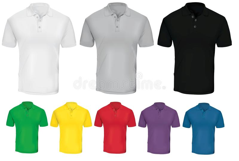 White Polo Shirt Template Stock Vector Illustration Of