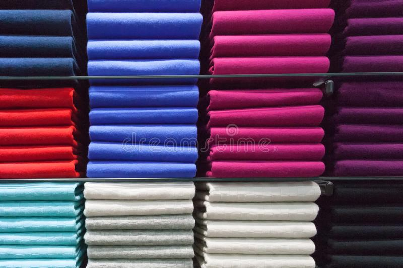 Colorful polos cashmere. In Scotland royalty free stock photos
