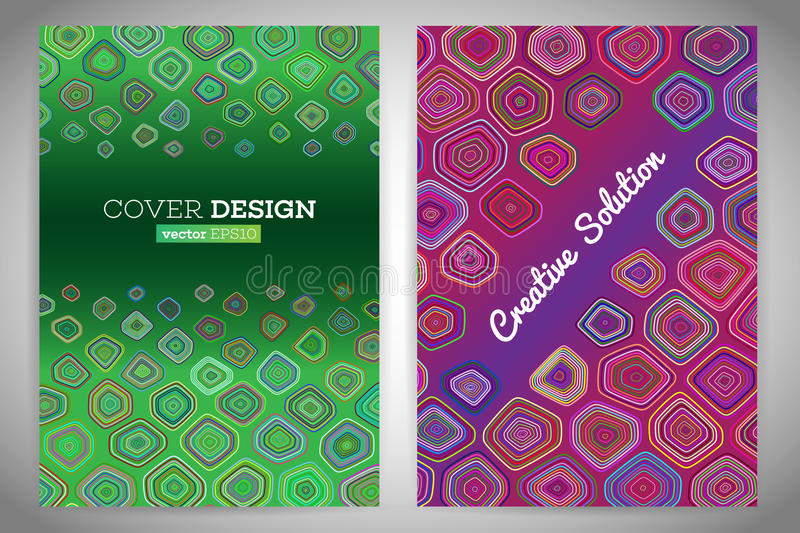 Colorful polygonal voronoi geometric prospectus design background. Abstract geometric cover flyer magazine.Polygonal brochure book cover template layout vector illustration