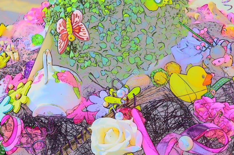 Colorful pop art background royalty free illustration