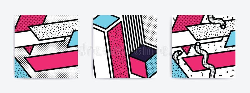 Colorful Pop art set stock illustration