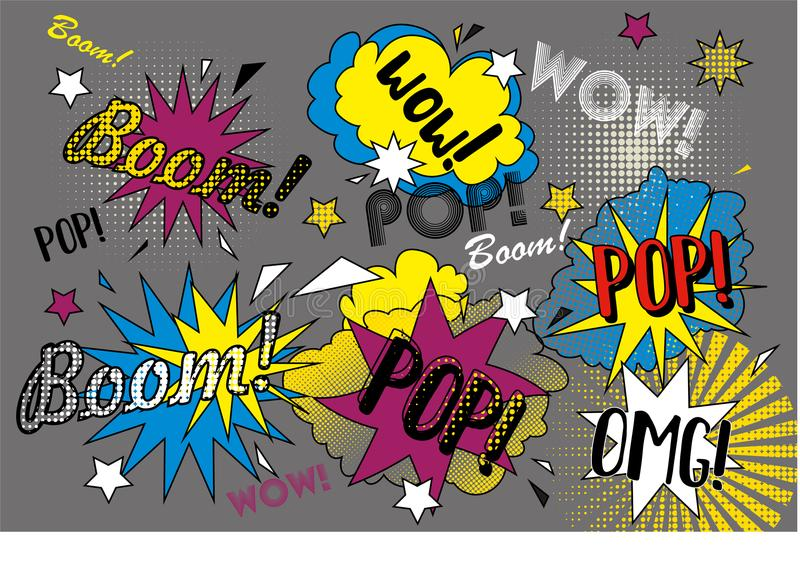 Pop graffiti royalty free stock images