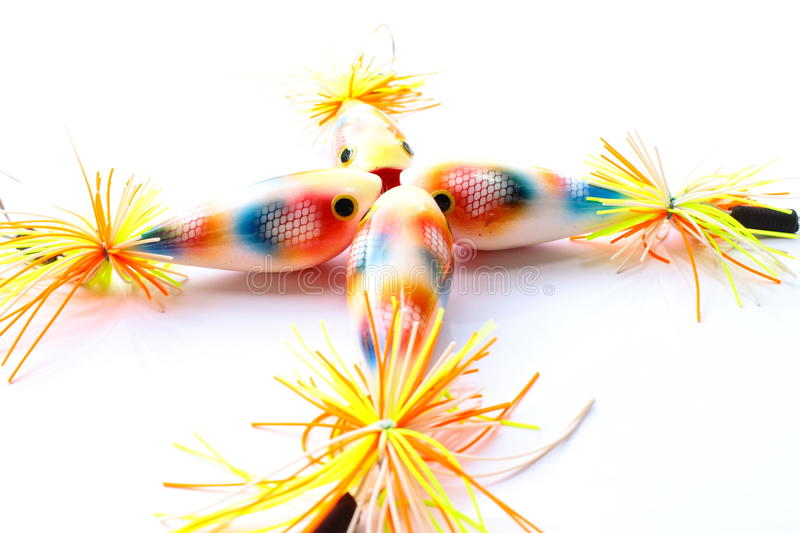 Colorful Popper lure fish for angling game. Needed item for angling game royalty free stock photography