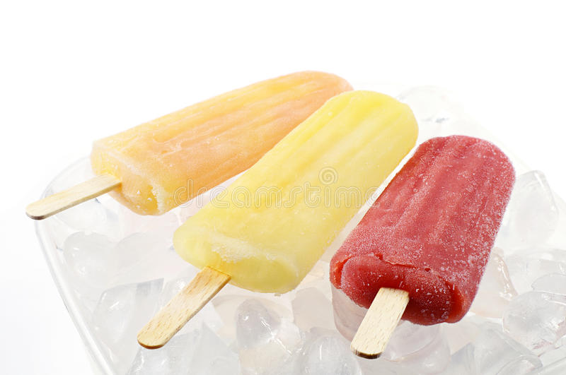 Colorful popsicle royalty free stock photo
