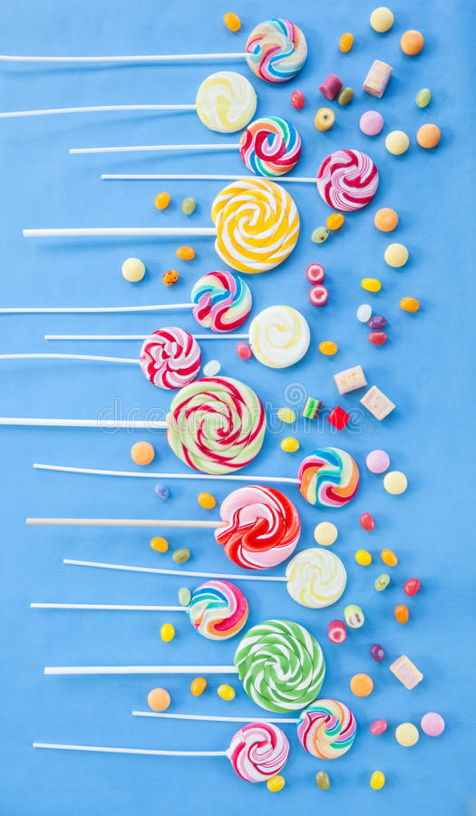 Colorful popsicles stock images