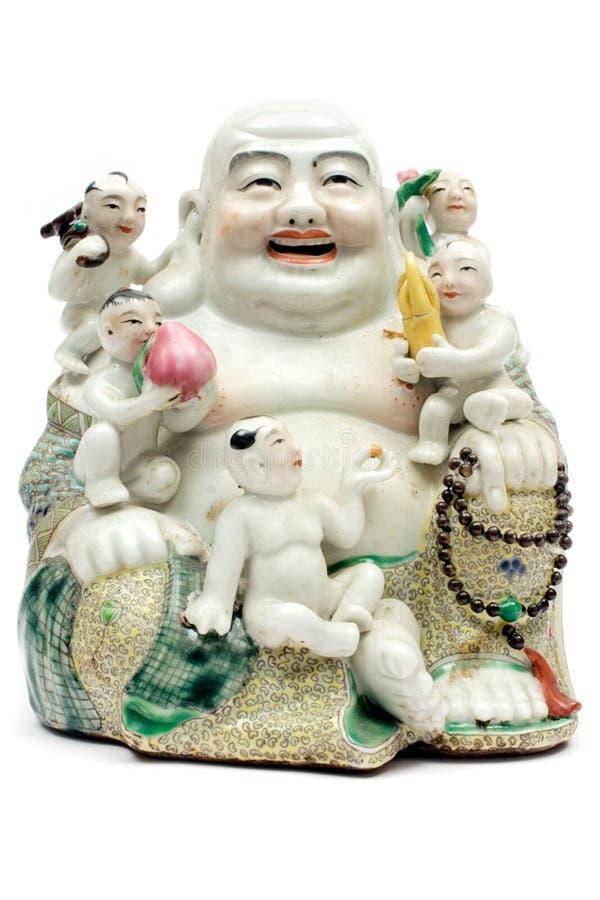 Colorful Porcelain Buddha stock photos