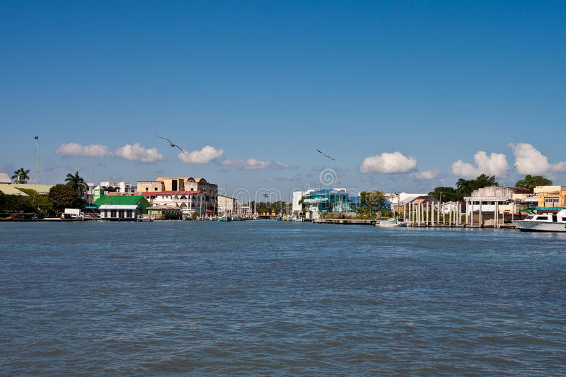 Colorful Port in Belize royalty free stock photography