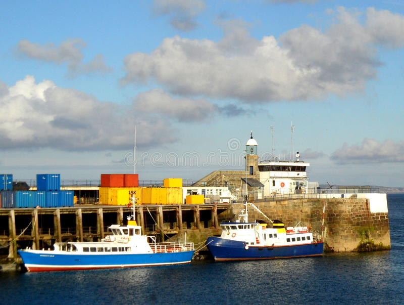 Colorful port of St Helier, Jersey royalty free stock images