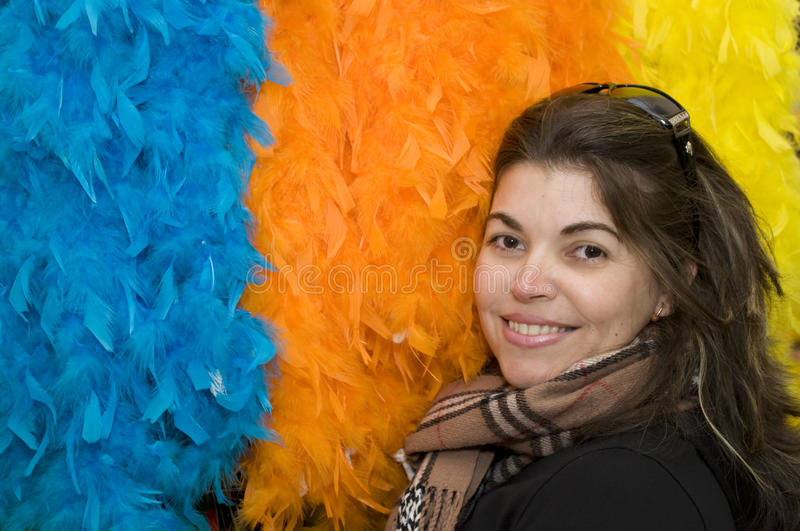 Colorful Portrait of a real life woman stock photo