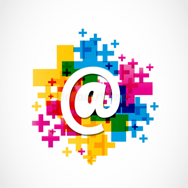 Colorful Positive Email Design stock illustration