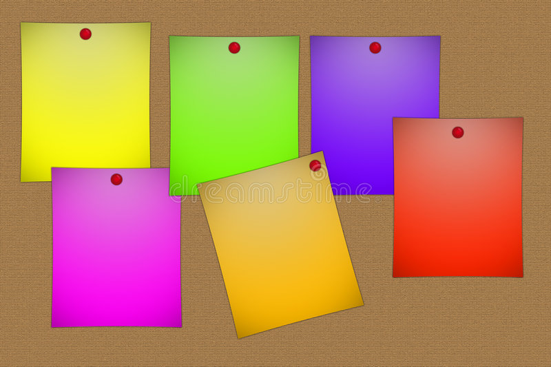 Colorful post-its stock illustration