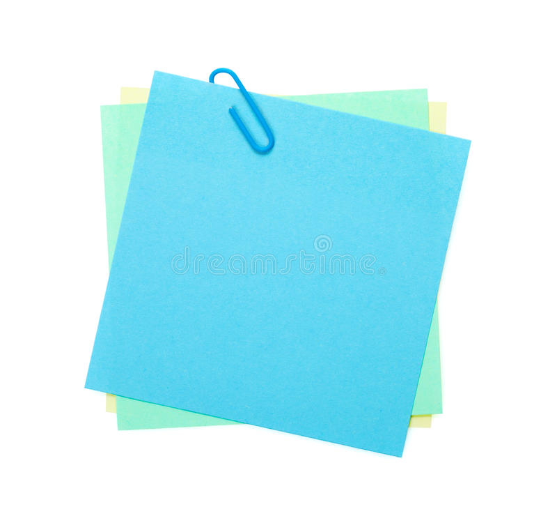 Download Colorful Post-it Notes With Clip Stock Image - Image: 39075451